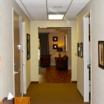 Raleigh primary care physician office hallway